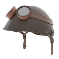 3d helmet goggles model