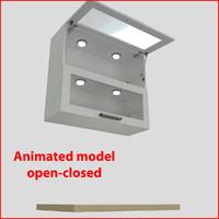 3d model kitchen furnitures 90 cm