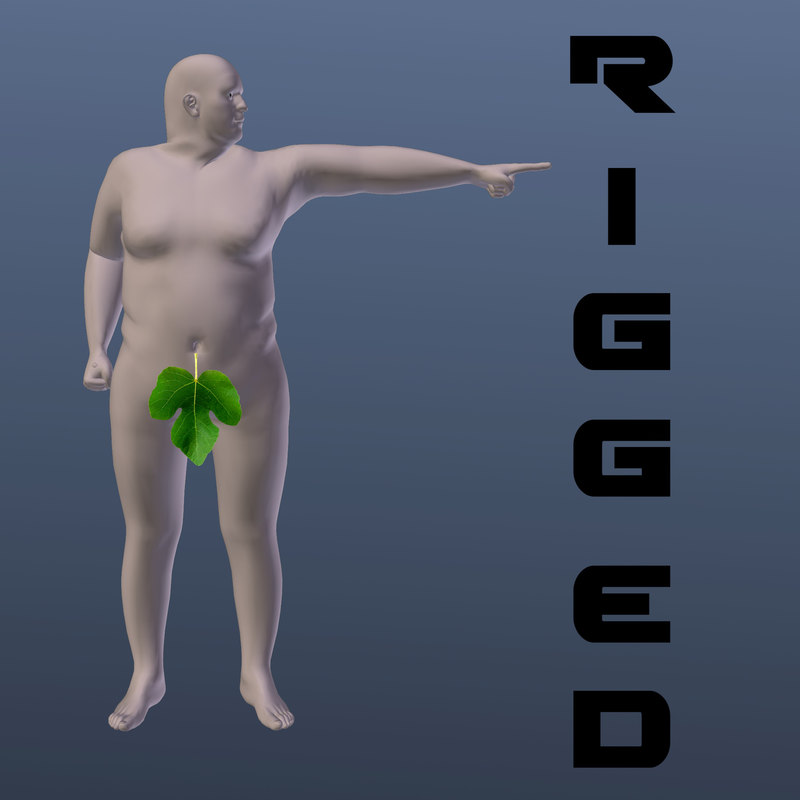 3ds max male fat base mesh