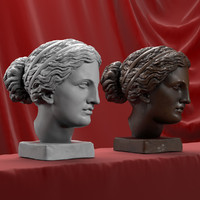 3d head sculpture aphrodite