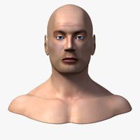 male head anatomy skeleton 3d obj