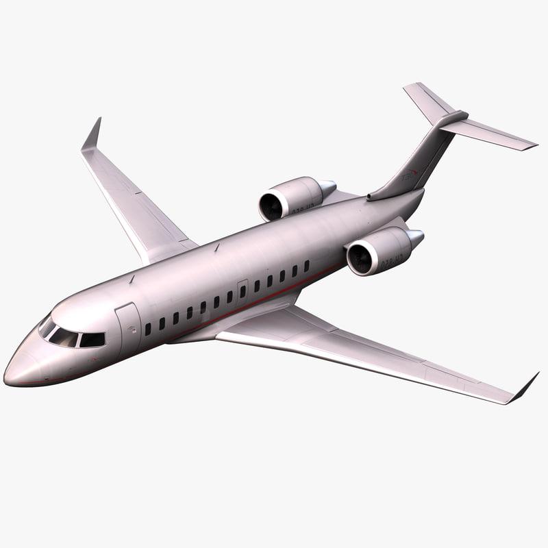 bombardier challenger 850 jet 3d model