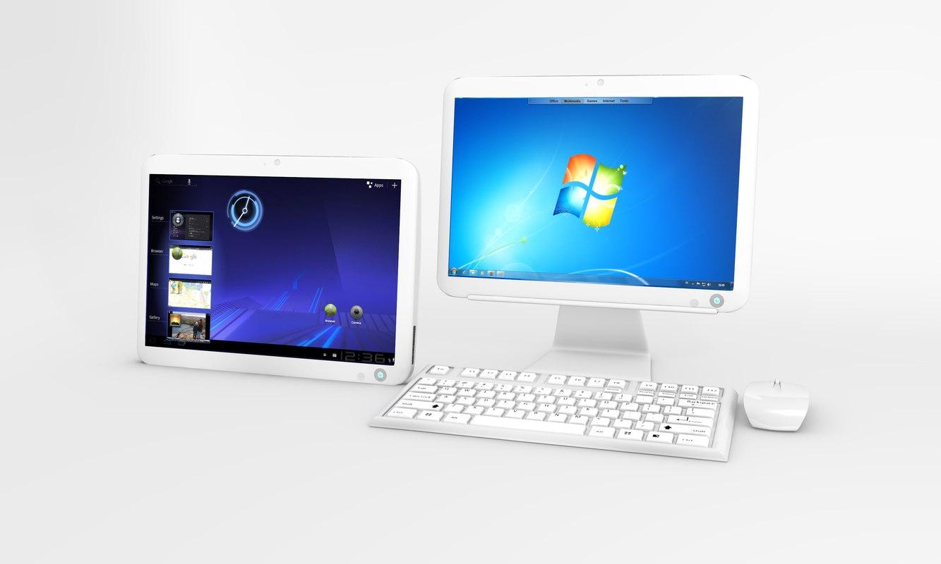 3d tablet pc model