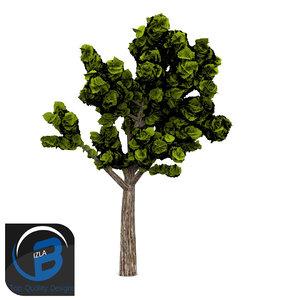 obj tree leaf