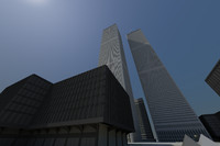 The World Trade Center with Ground Zero