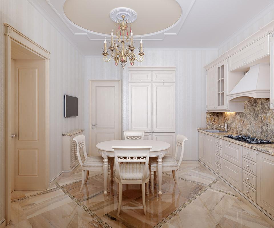 3d model kitchen interior scene verona