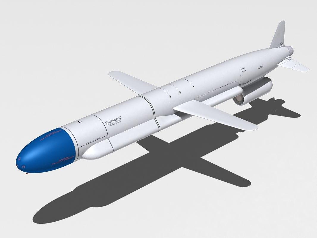 kh-555 missile 3d max