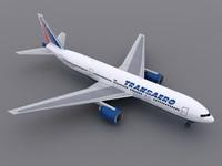 aircraft transaero 3d obj