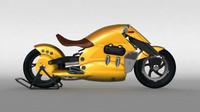 suzuki biplane motorcycle concept obj