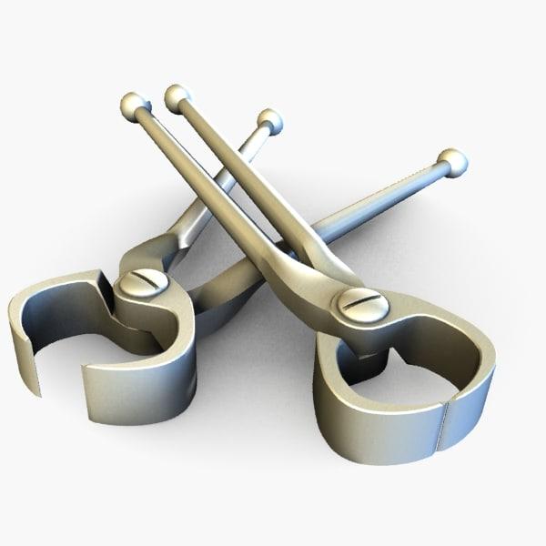 pincers tool 3d model