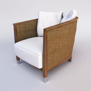 3d model mozart chair