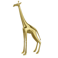 Golden giraffe figurine
