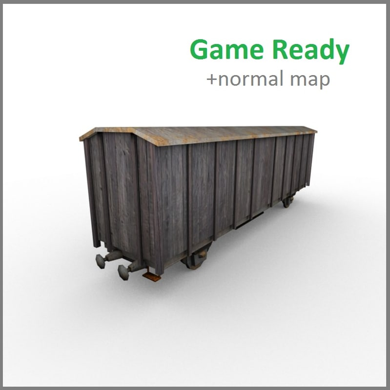 low-poly wagon 3d 3ds