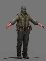 3d model military human