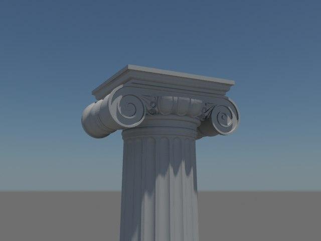 3d max ionic column