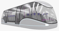 futuristic passenger transporter 3d 3ds