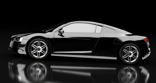 black sport car r8 max