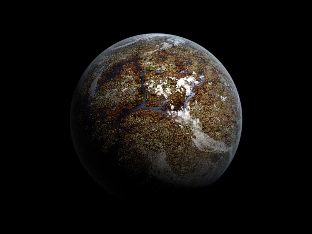Ausländischer Unfruchtbarer Planet 3d Modell Turbosquid 725342