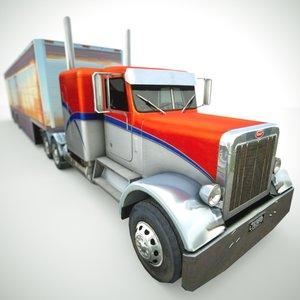 359 1984 semi truck 3d model