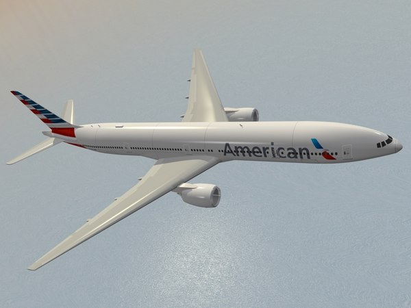 boeing 777-300 er american airlines dxf