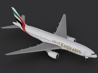 boeing 777-200 er emirates 3d model