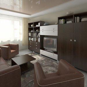 3ds max interior hotel room