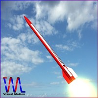 3d meteorological sounding rocket black model