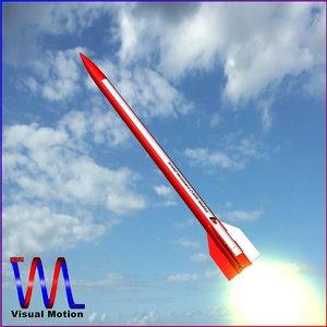 3d meteorological sounding rocket black model