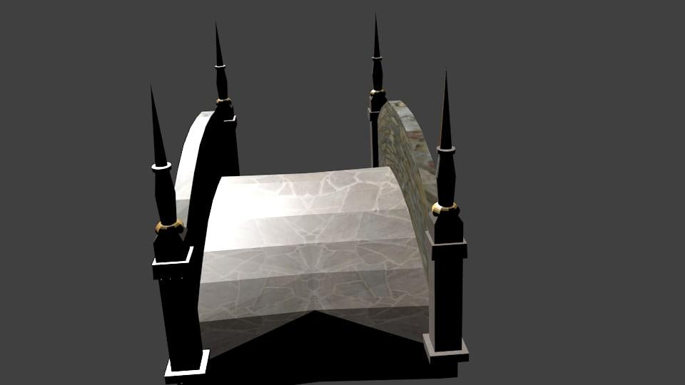 fantasy bridge 3d model