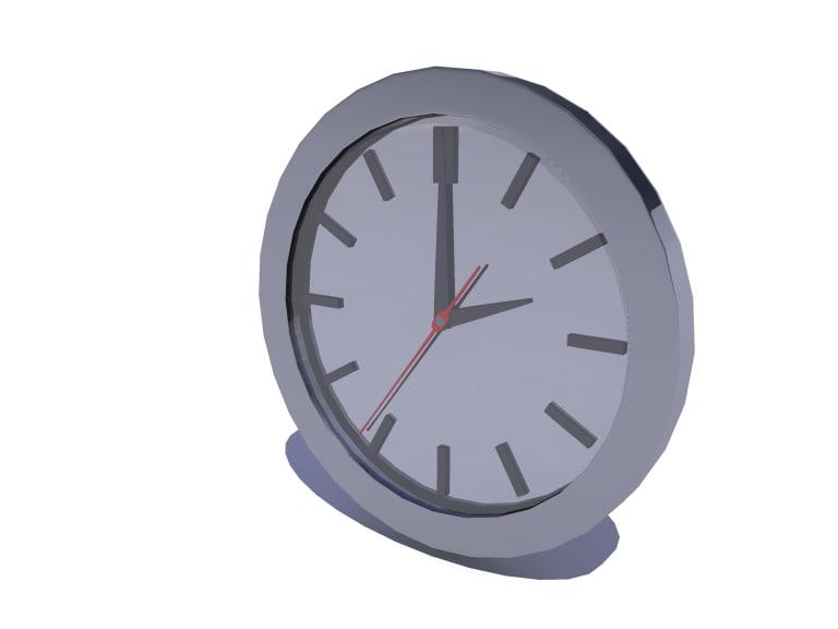 3d time clock