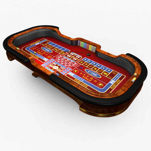 3d model casino craps table -