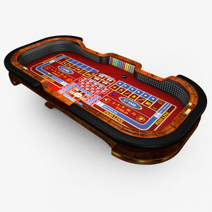 3d model casino craps table -