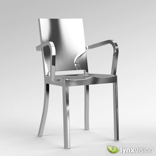 Hudson Chair Philippe Armchair 3d Obj