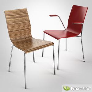 anni chair armchair 3d model