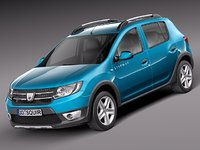 3d model of suv dacia sandero 2013