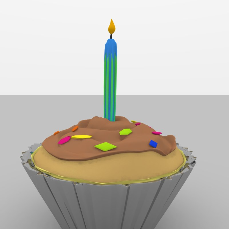 birthday party cupcake obj free