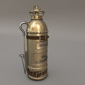 3d fire-suppression bottle