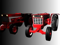 low/high poly tractor