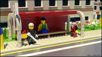 Lego - bus stop