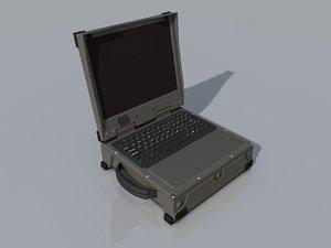military msd laptop 3d model