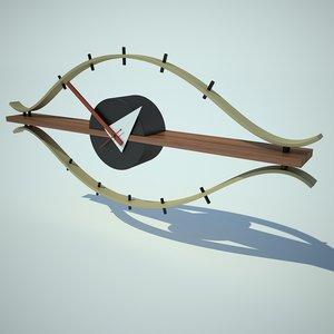 3d model nelson eye clock