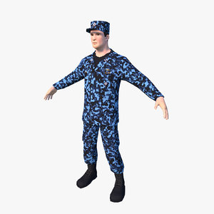 3d characters officer enlisted model