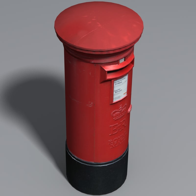 mail postbox 3d model