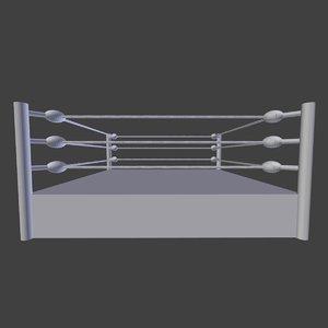 wrestling boxing ring 3d obj