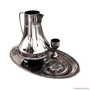 3d silvery eucharistic set