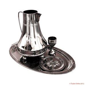 3d silvery eucharistic set