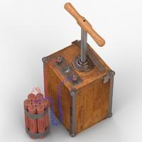 3ds tnt detonator plunger
