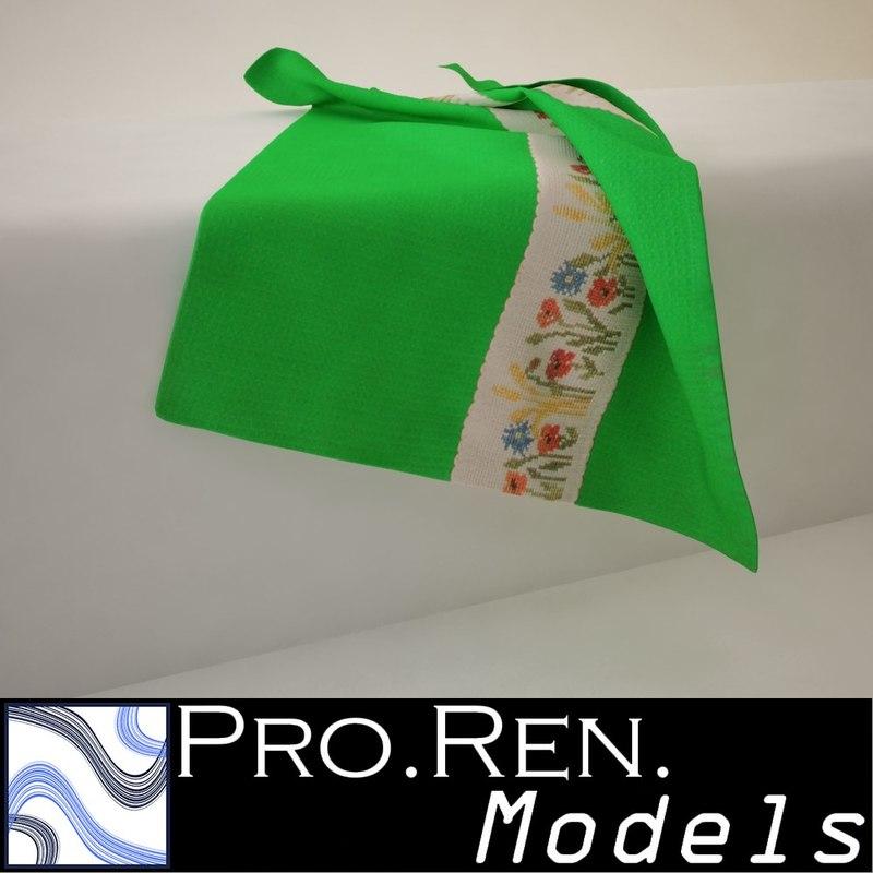 3d max green towel -