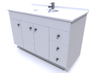 bathroom vanity 3d obj