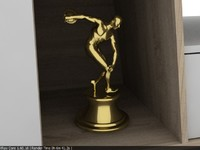 3d model gold athlete